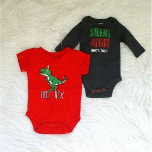 Newborn Baby Christmas Bodysuit Bundle Set